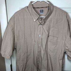Men's Short Sleeve CINCH Plaid Shirt XL